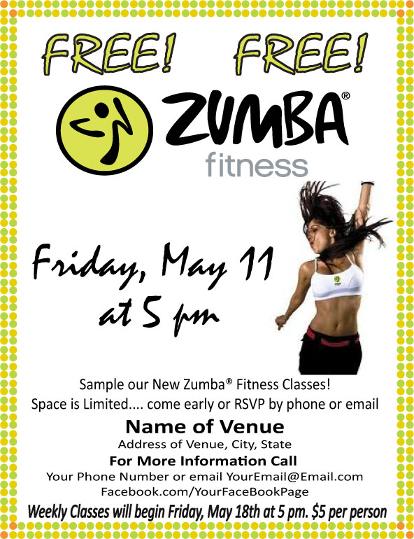 Free Zumba Flyer Templates Images Template Design Free Download